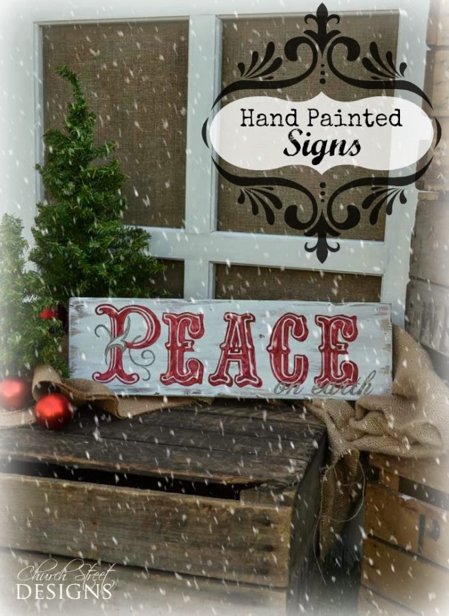 Hand Painted Christmas Signs