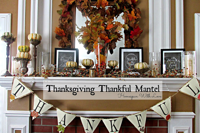 Thanksgiving Give Thanks Printables Decor Oh My Creative – Thanksgiving Mantel Decorations