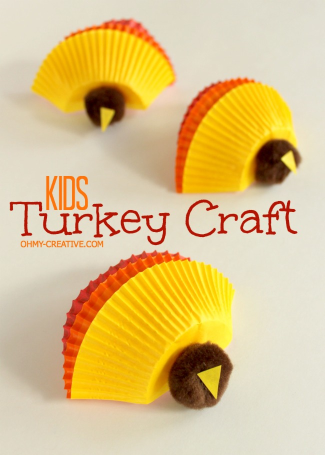 Cupcake Liner Turkeys