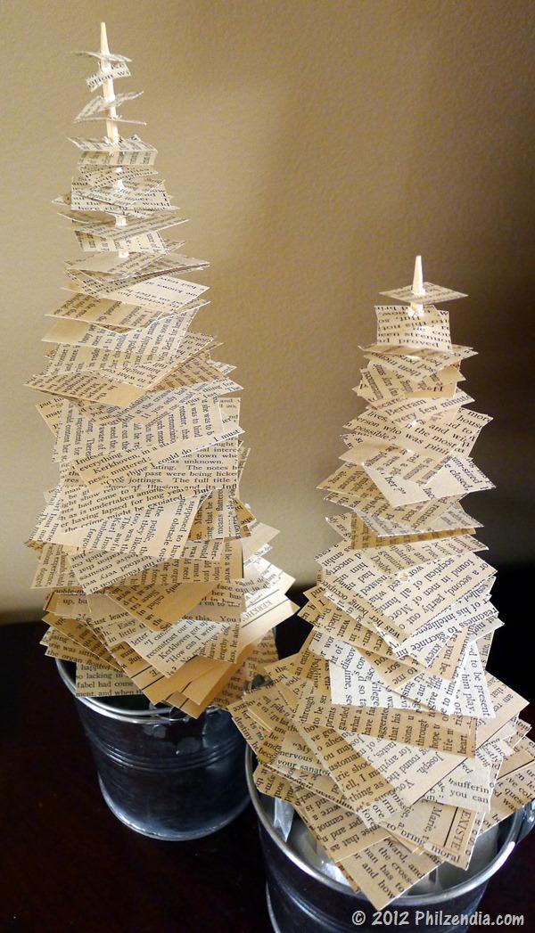 News Paper Christmas Trees