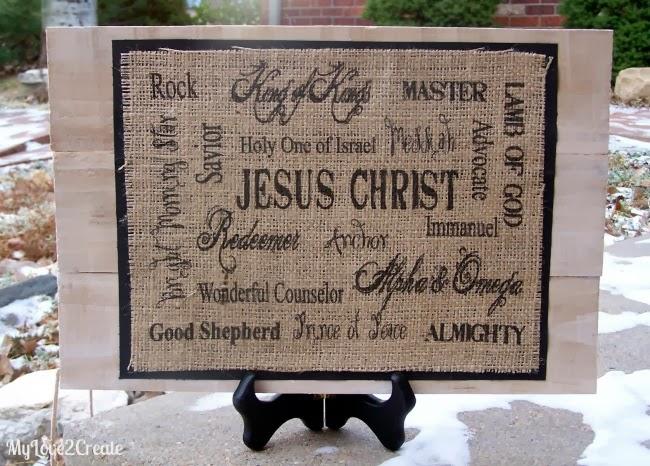 Printed Burlap Christ Sign 4, MyLove2C