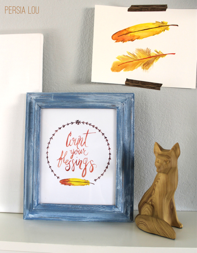 Free Count Your Blessings Watercolor Printable!