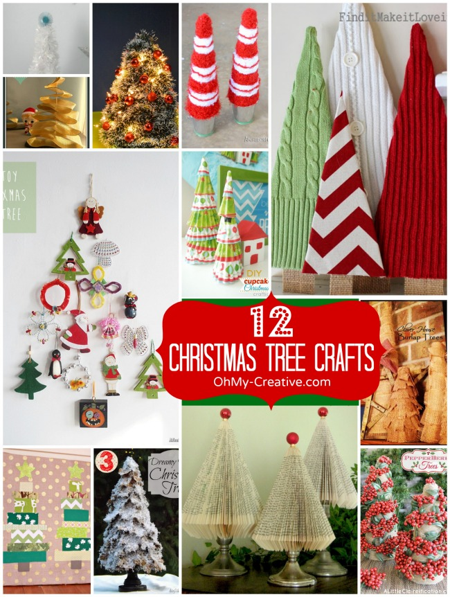12 Christmas Tree Crafts  |  OhMy-Creative.com