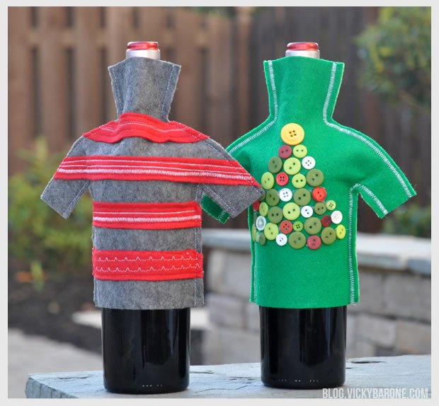diy Wine Bottle Sweaters