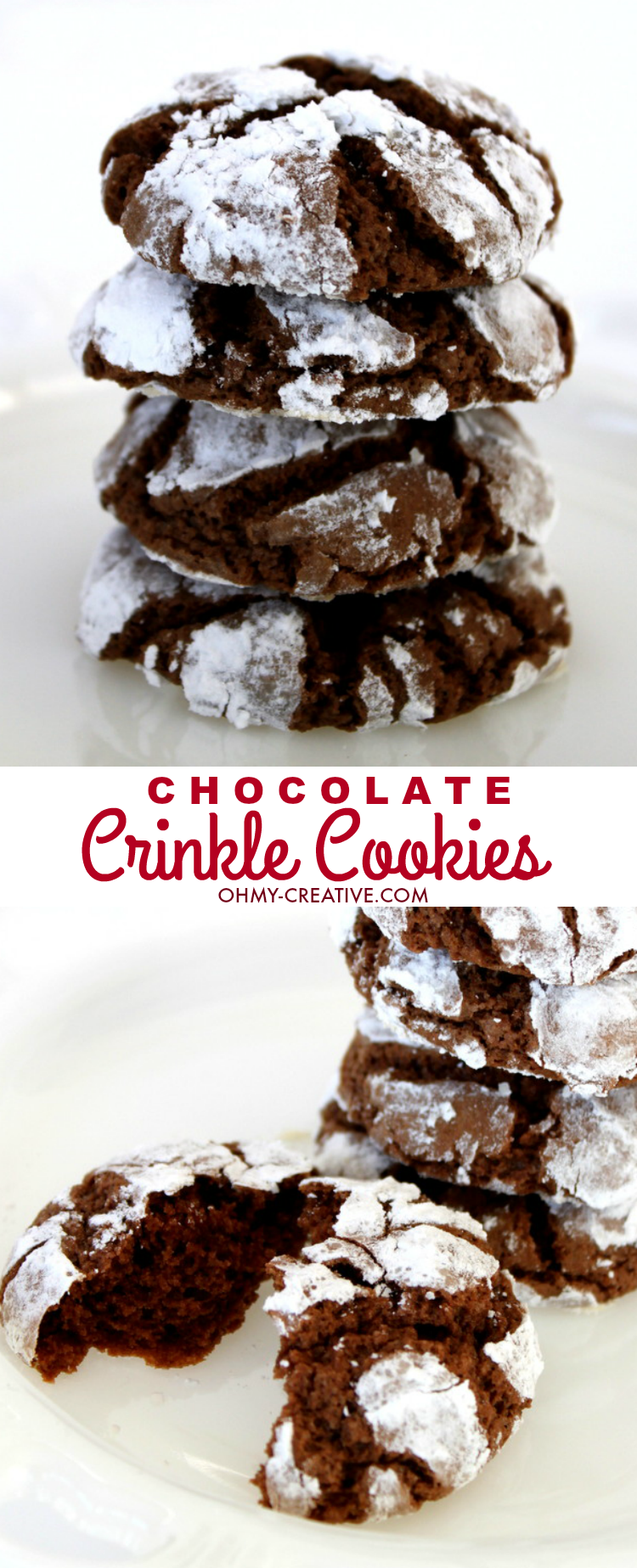Chocolate Crinkle Cookies And A Cookie Recipe Exchange - Oh My ...