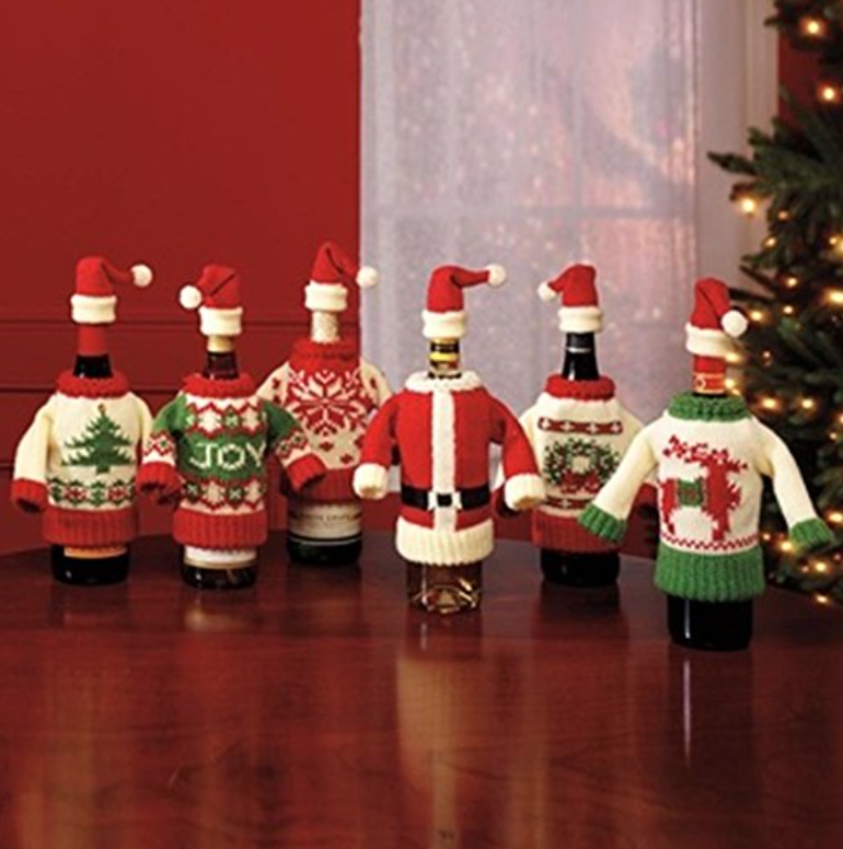 50 ugly christmas sweater party ideas oh my creative for Christmas bottle decoration ideas
