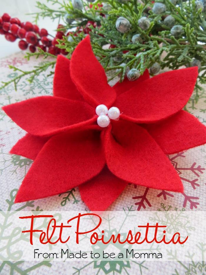 Felt-Poinsettia