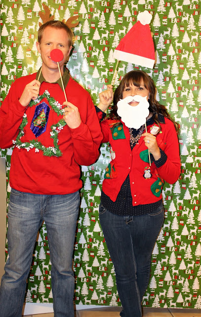 ugly christmas sweater party ideas photo booth 50 ugly christmas sweater party ideas oh my