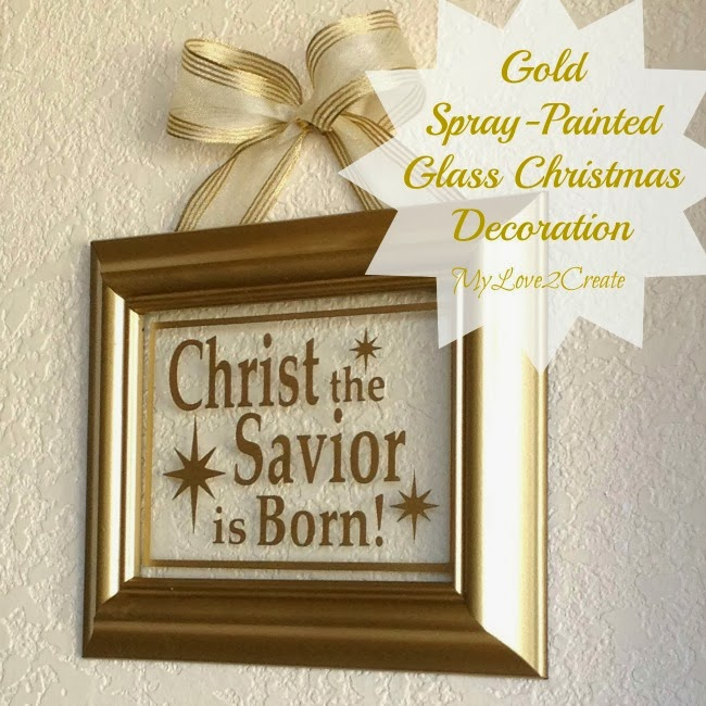 Gold Paint For Glass Gold Painted Christmas Frame