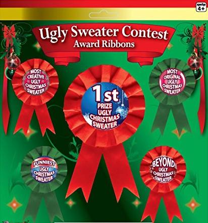 Ugly Christmas Sweater Award Ribbons