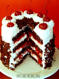 black forest cake - Oh My Creative