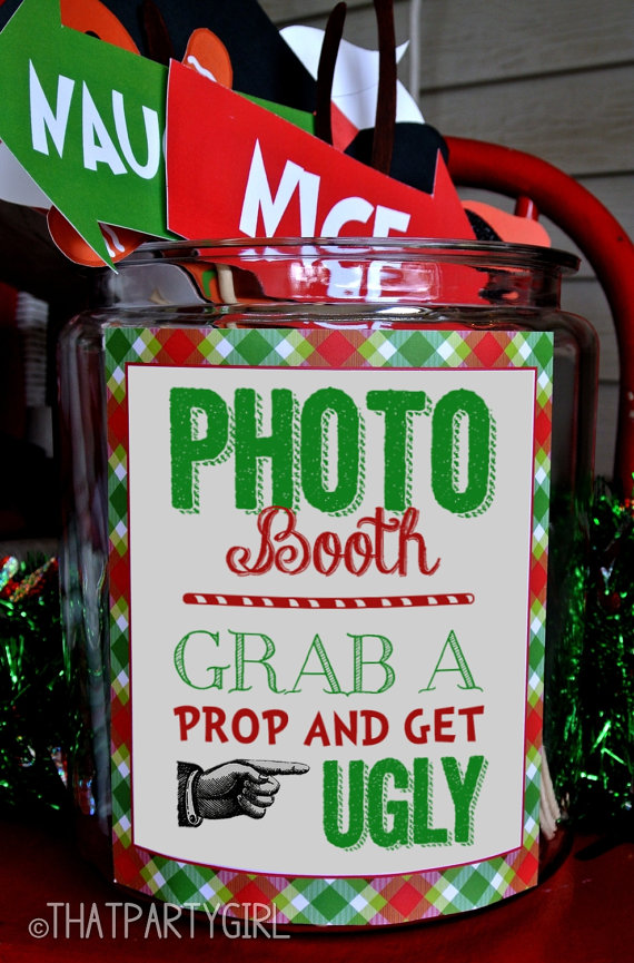 Ugly Christmas Sweater Photo Booth - Oh My Creative
