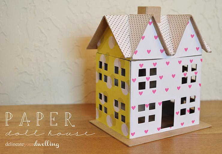 Scrapbook Paper Dollhouse