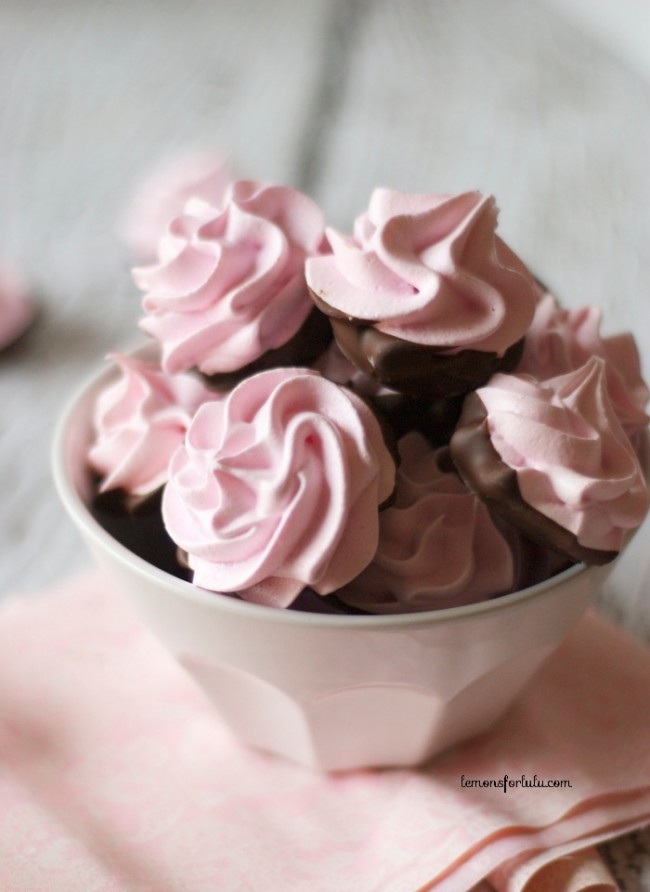Chocolate-Dipped-Cherry-Meringues
