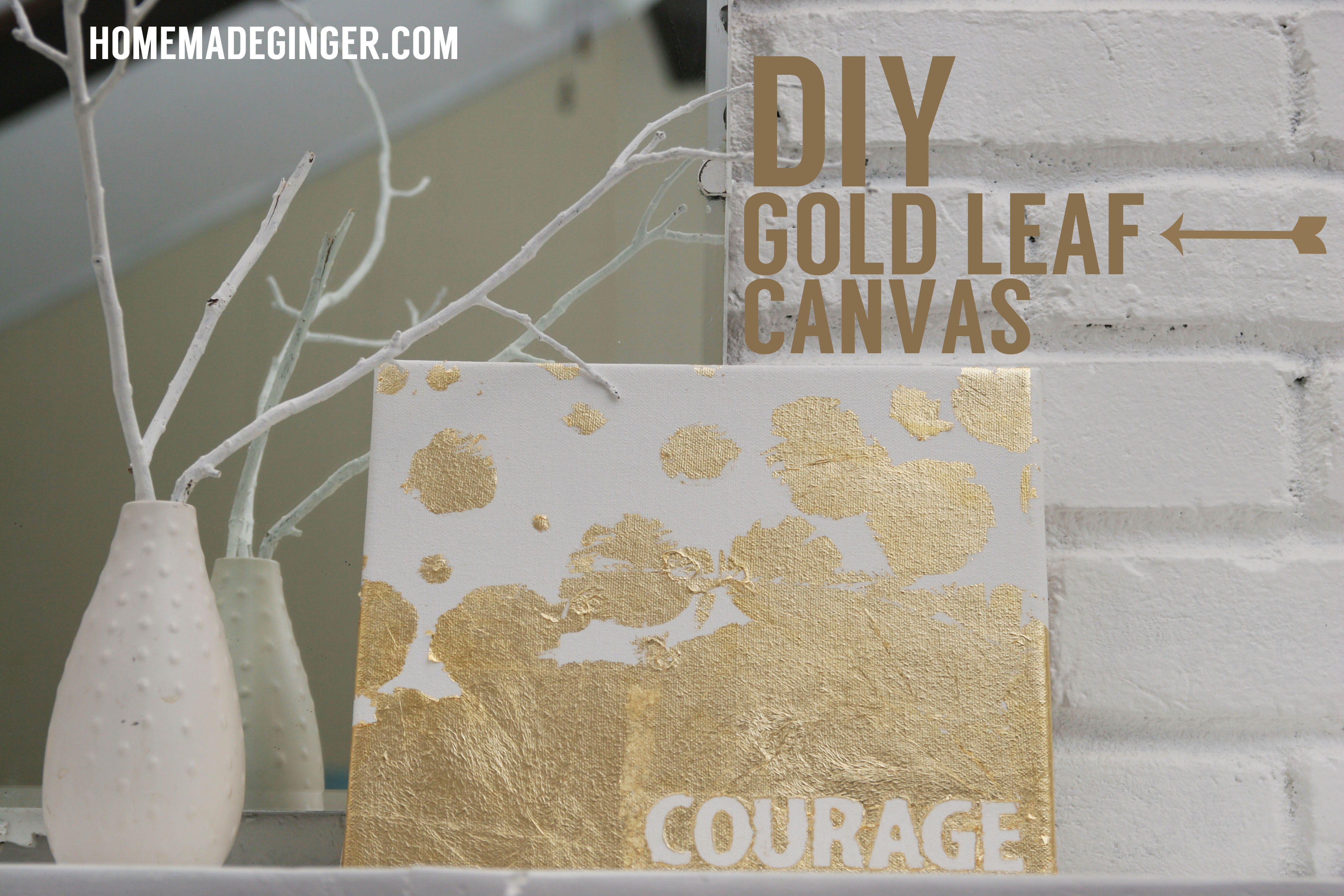 DIY Gold Leaf Canvas