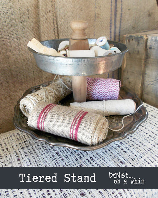 Vintage Cake Pan Tiered Stand