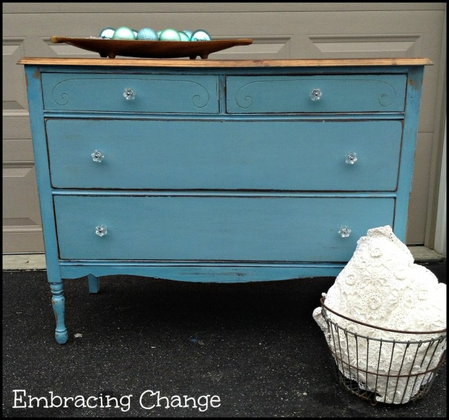 Milk Paint Turquoise-Dresser