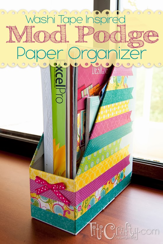Washi-Tape-Inspired-Mod-Podge-Paper-Organizer
