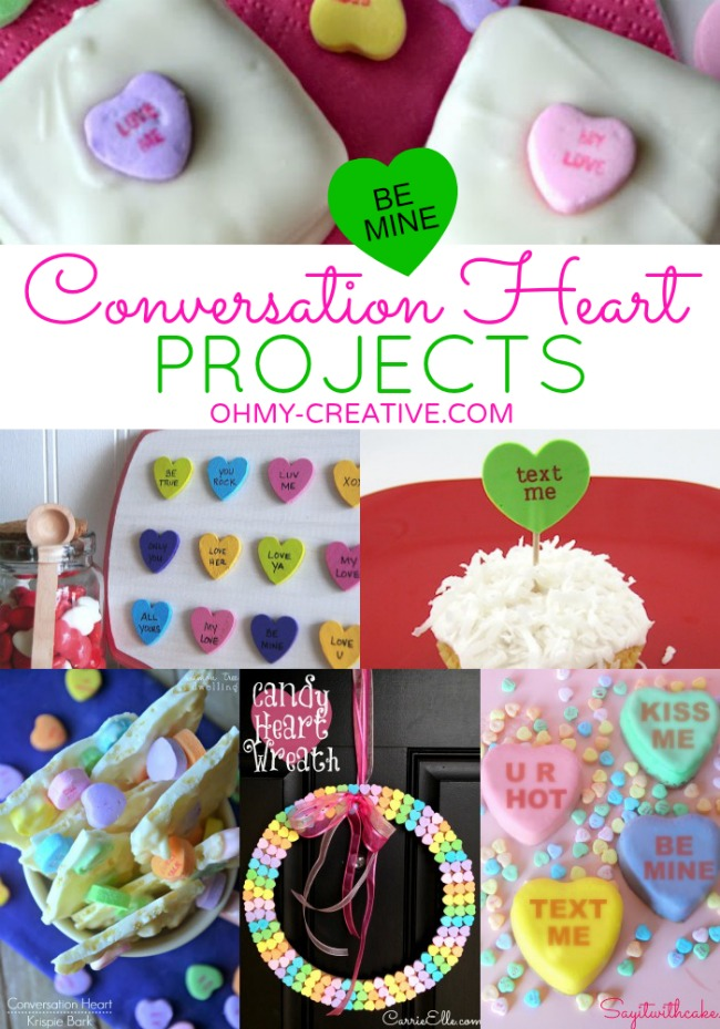 Conversation Heart Crafts and Desserts  |  OHMY-CREATIVE.COM