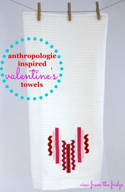 Valentine's Day Heart Tea Towel
