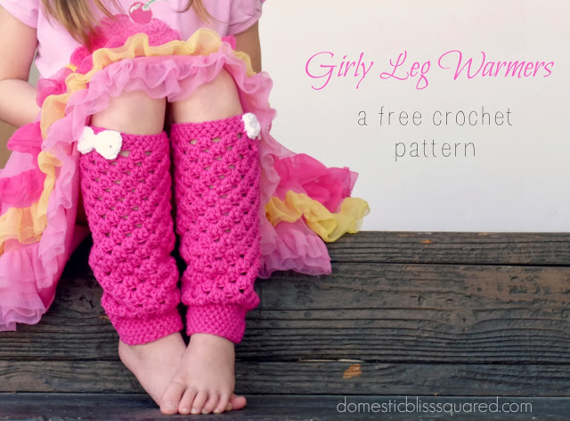 Girls Crochet leg warmer pattern