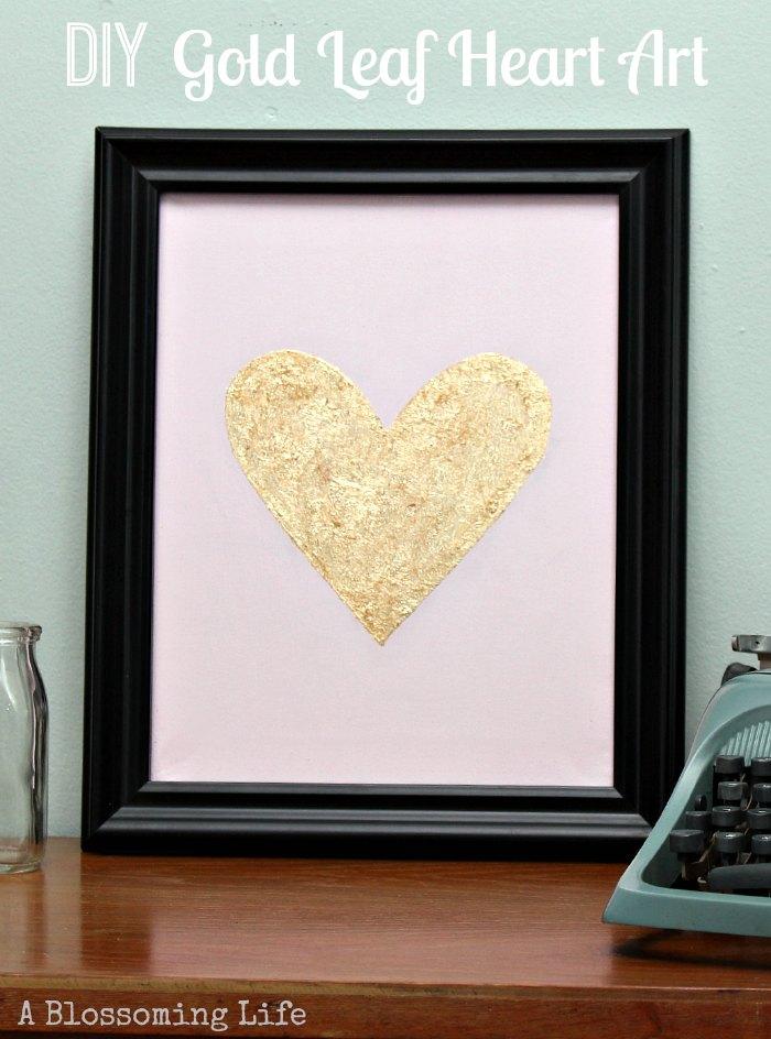 DIY-Gold-Leaf-Heart-Art