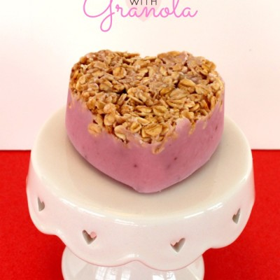 Frozen Yogurt Hearts With Granola