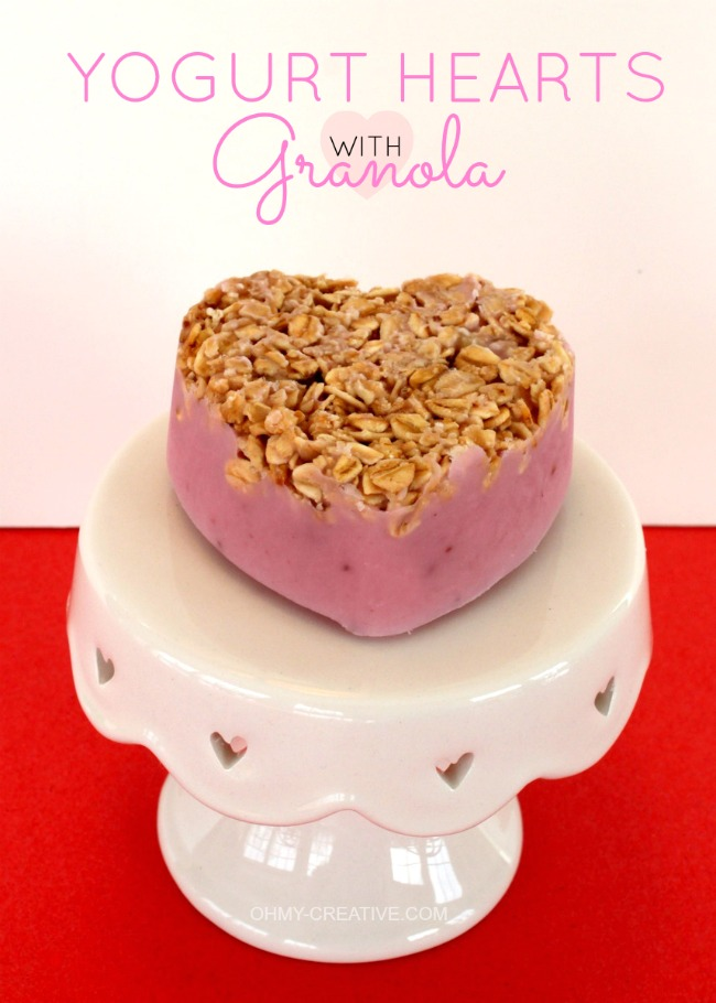 Frozen Yogurt Hearts With Granola