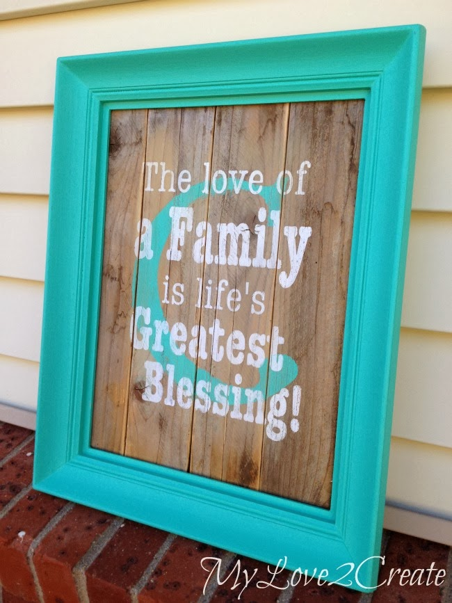 DIY Monogram Family Quote Frame - MyLove2Create