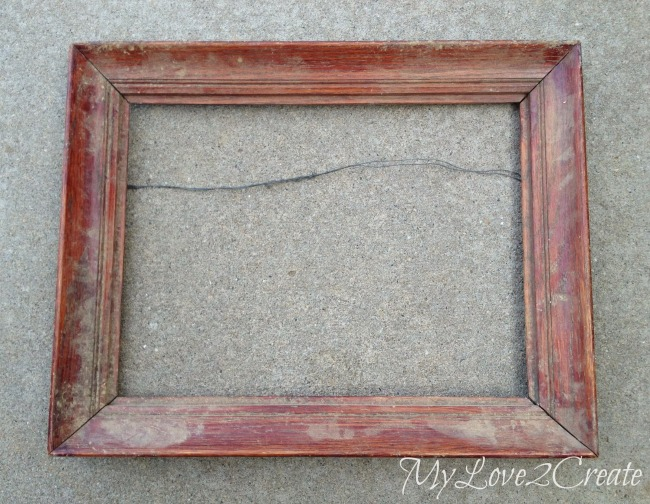 Vintage DIY Monogram Frame With Family Quote