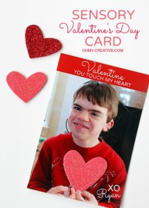 Create a Sensory Valentines Day Card for the kids to touch   OHMY-CREATIVE.COM