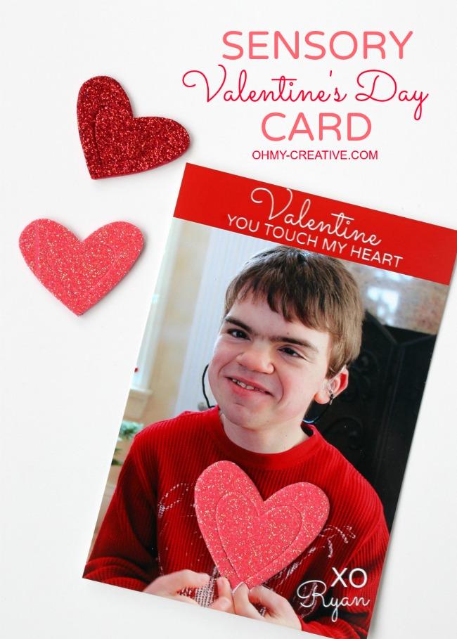 Sensory Valentine's Day Card
