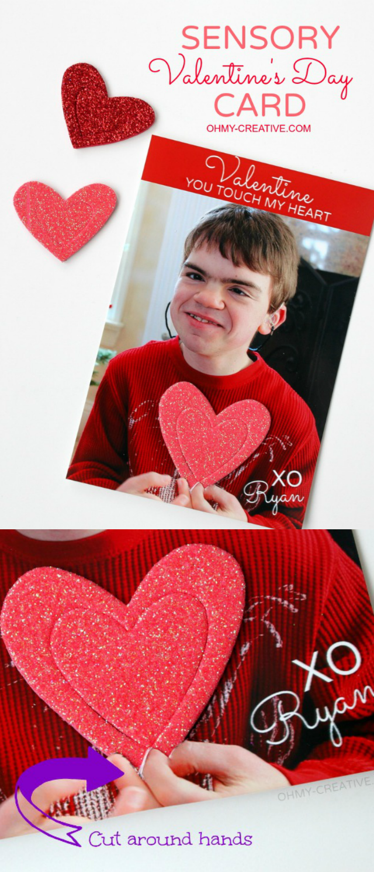 For the children who use touch to understand the world. Sensory Valentine's Day Card | OHMY-CREATIVE.COM