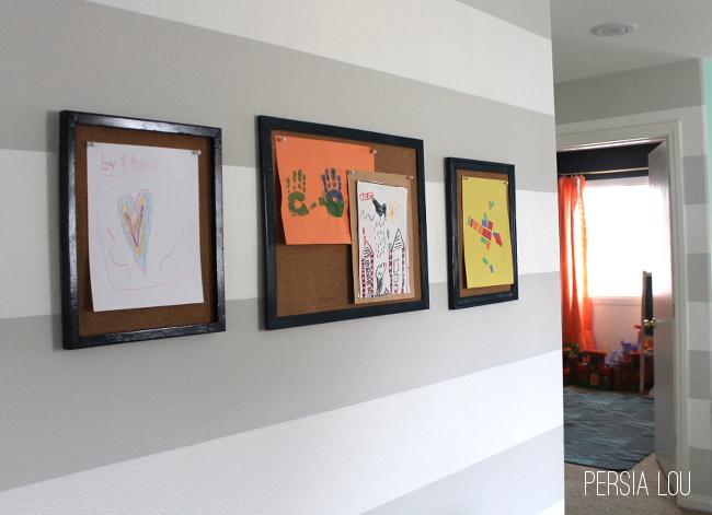 Quick & Easy DIY Kids Artwork Gallery