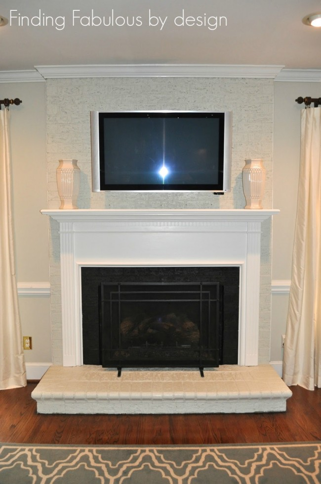 Remodeled Fireplace Mantel