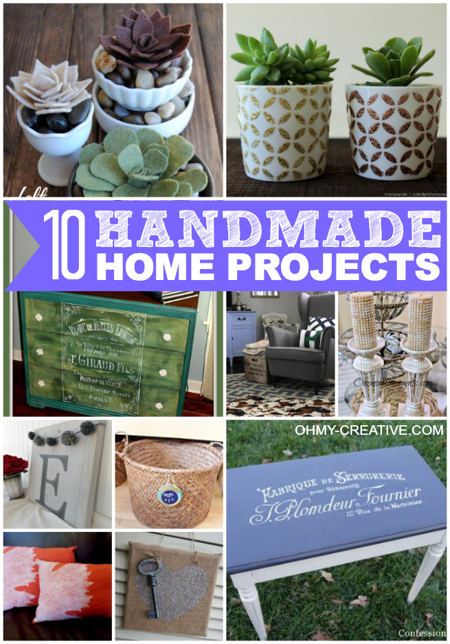 10 Handmade Home Projects | OHMY-CREATIVE.COM