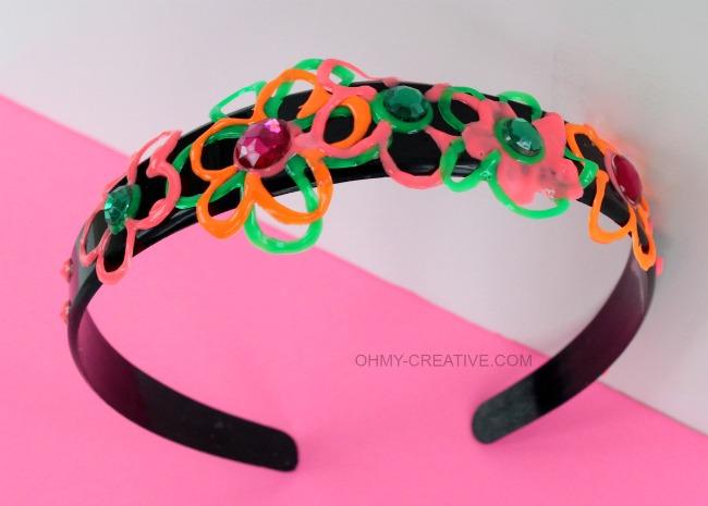 DIY Neon Headband | OHMY-CREATIVE.COM