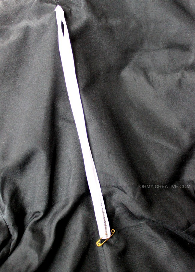 An easy Clothing Strap Hack, without cutting them off, so they can be used to hang the garment later!   OHMY-CREATIVE.COM   clothing hanger strap   formalwear   Prom   Wedding