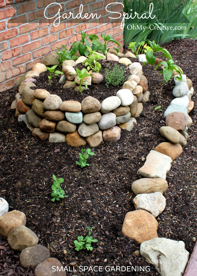 How to create a small vegetable garden with a garden spiral | OhMy-Creative.com