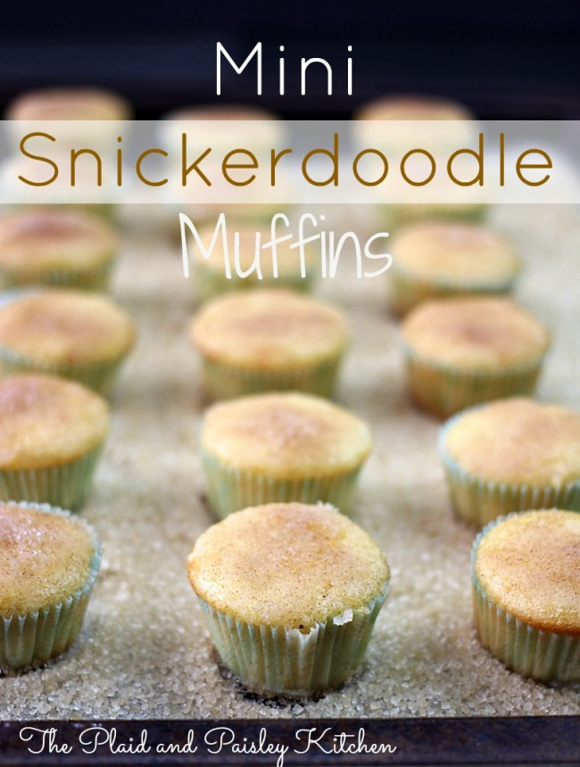These delicious Mini Snickerdoodle Muffins are quite possibly the easiest and tastiest little bite that you will ever pop in your mouth! Just like snickerdoodle cookies...heavenly! | OHMY-CREATIVE.COM