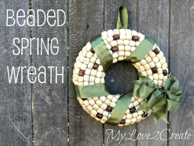 How To Make A Wreath For Spring Using Beads