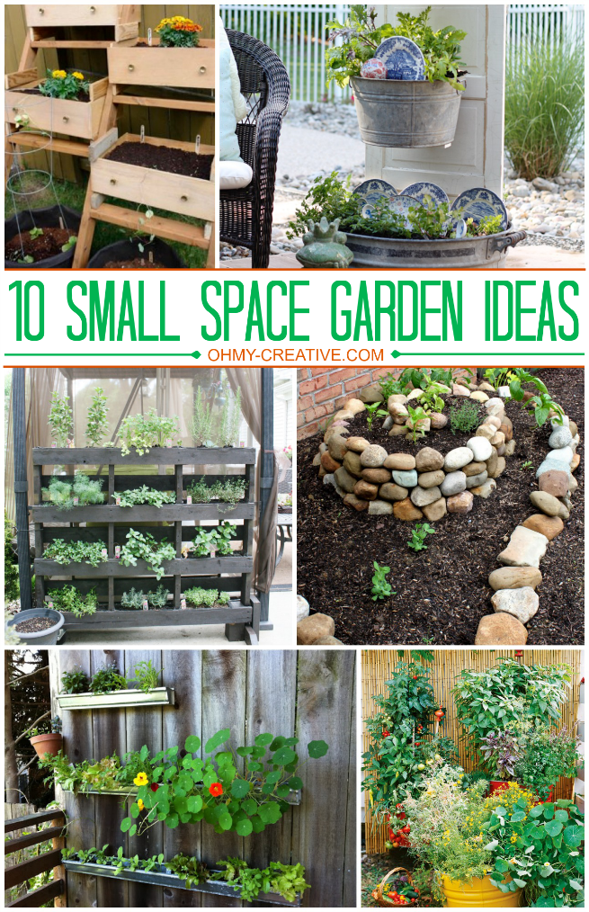 1o small space garden ideas oh my creative - Small garden space ideas property ...