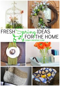 Fresh Spring Ideas For The Home   OHMY-CREATIVE.COM #SpringDecor