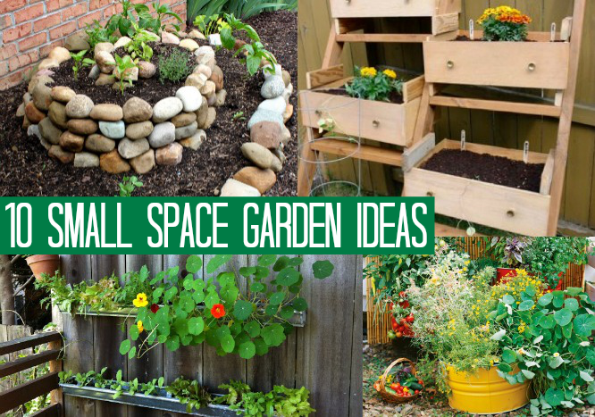 1o small space garden ideas oh my creative for Creative small garden ideas