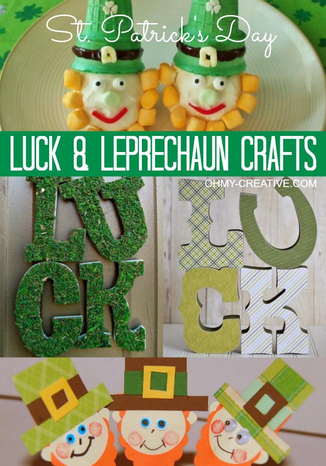 St. Patrick's Day Luck & Leprechaun Crafts | OhMy-Creative.com