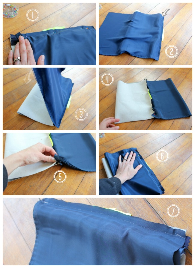 ATTACH LINER TO ZIPPER