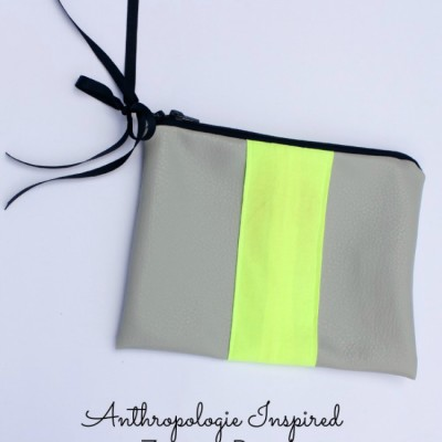 {Faux} Leather Striped Clutch … Anthropologie Style