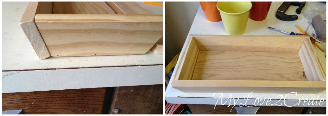 building tray, nail in bottom