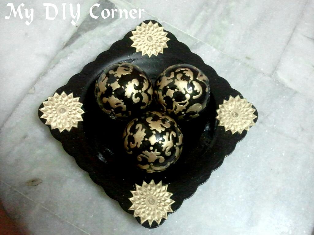 DIY Decorative Tray and Orb Set