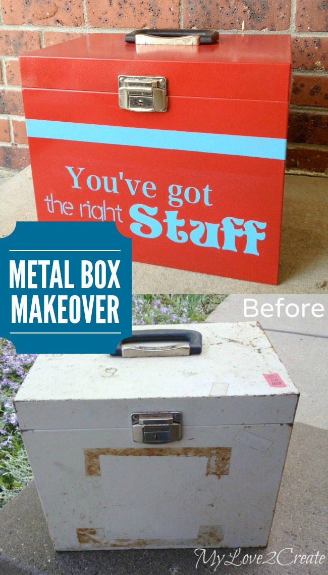 Metal Storage Box Makeover | Repurpose an old metal box to store your stuff!
